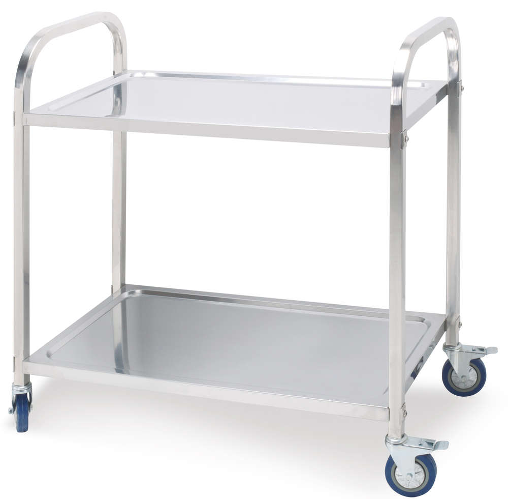 Perfect Stainless Steel Two Layers Dining Cart