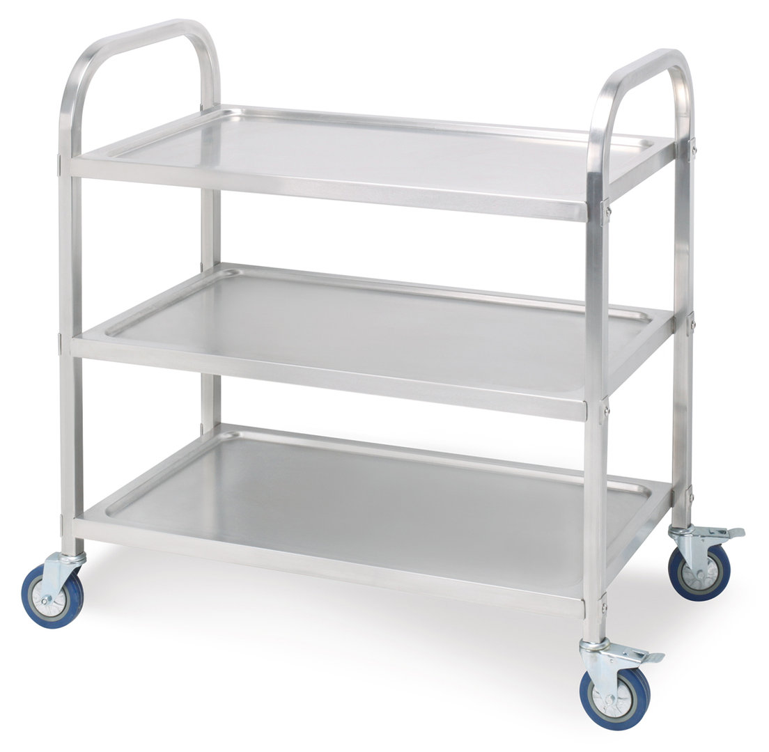Elegant Stainless Steel Three Layers Dining Cart